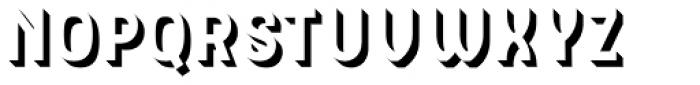 Hipton Sans Extrude Font LOWERCASE