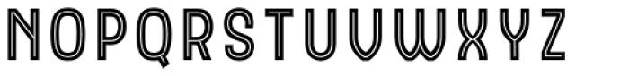 Hipton Sans Inline Font UPPERCASE