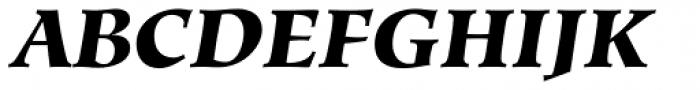 Hiroshige Black Italic Font UPPERCASE