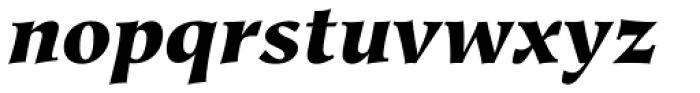 Hiroshige Black Italic Font LOWERCASE