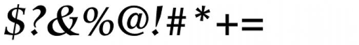 Hiroshige Medium Italic Font OTHER CHARS