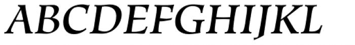 Hiroshige Medium Italic Font UPPERCASE