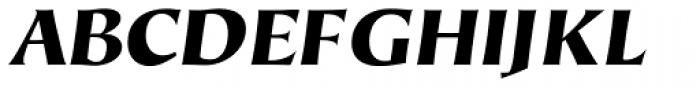 Hiroshige Sans Black Italic Font UPPERCASE