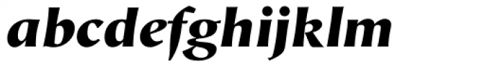 Hiroshige Sans Black Italic Font LOWERCASE