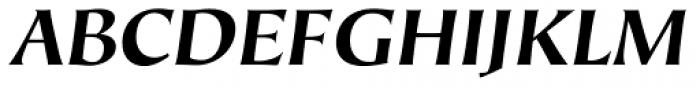 Hiroshige Sans Bold Italic Font UPPERCASE