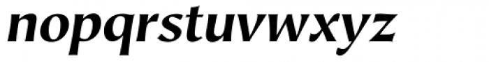 Hiroshige Sans Bold Italic Font LOWERCASE