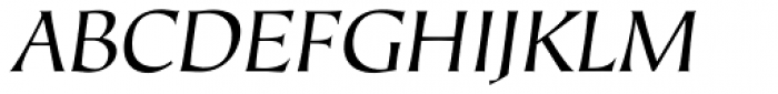 Hiroshige Sans Book Italic Font UPPERCASE