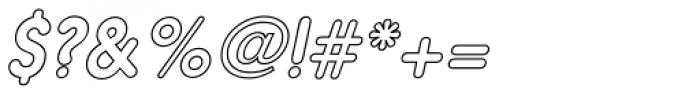 Hiruko Outline Oblique Font OTHER CHARS