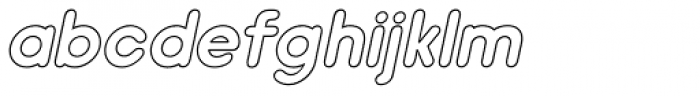 Hiruko Outline Oblique Font LOWERCASE