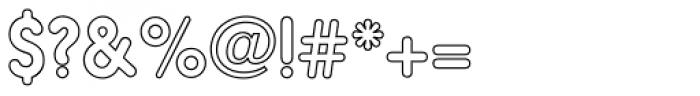 Hiruko Pro Outline Font OTHER CHARS