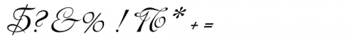 Hispania Script Font OTHER CHARS