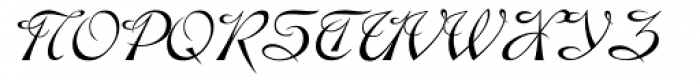 Hispania Script Font UPPERCASE
