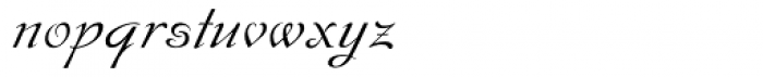 Hispania Script Font LOWERCASE