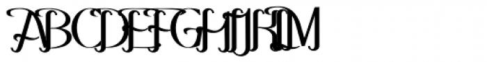 Hitalica Bold Vertical Font UPPERCASE