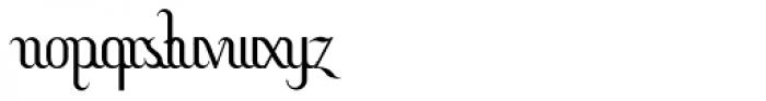 Hitalica Vertical Font LOWERCASE