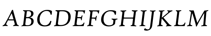 High Tower Text Italic Font UPPERCASE