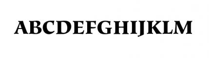 Hiroshige Black Font UPPERCASE