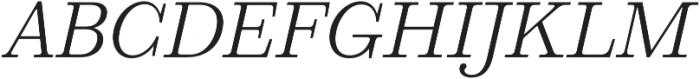 HK Carta Light Italic otf (300) Font UPPERCASE