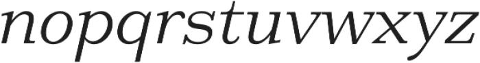 HK Carta Light Italic otf (300) Font LOWERCASE