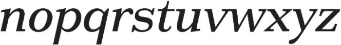 HK Carta Medium Italic otf (500) Font LOWERCASE