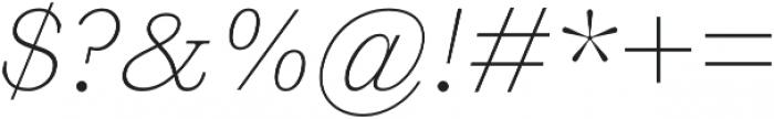 HK Carta Thin Italic otf (100) Font OTHER CHARS