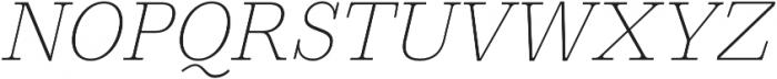 HK Carta Thin Italic otf (100) Font UPPERCASE
