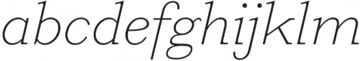 HK Carta Thin Italic otf (100) Font LOWERCASE