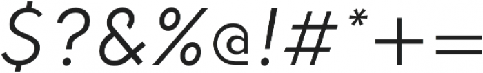 HK Explorer Book Italic otf (400) Font OTHER CHARS