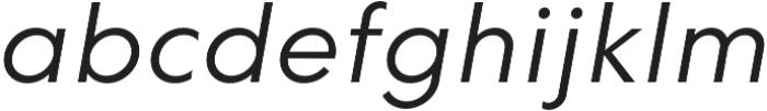 HK Explorer Book Italic otf (400) Font LOWERCASE