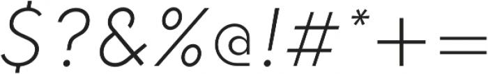HK Explorer ExtraLight Italic otf (200) Font OTHER CHARS