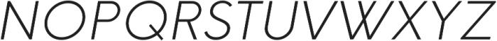 HK Explorer ExtraLight Italic otf (200) Font UPPERCASE