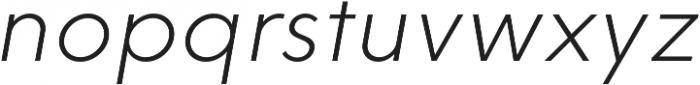 HK Explorer ExtraLight Italic otf (200) Font LOWERCASE