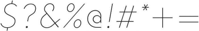 HK Explorer Hairline Italic otf (100) Font OTHER CHARS
