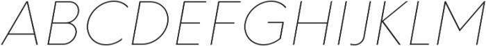 HK Explorer Hairline Italic otf (100) Font UPPERCASE