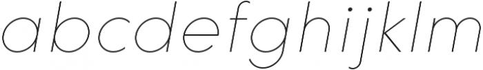 HK Explorer Hairline Italic otf (100) Font LOWERCASE