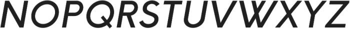 HK Explorer Medium Italic otf (500) Font UPPERCASE
