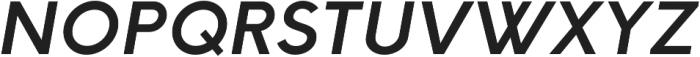 HK Explorer SemiBold Italic otf (600) Font UPPERCASE