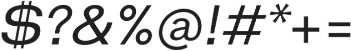 HK Gothic Medium Italic otf (500) Font OTHER CHARS