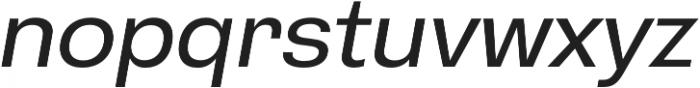 HK Gothic Medium Italic otf (500) Font LOWERCASE