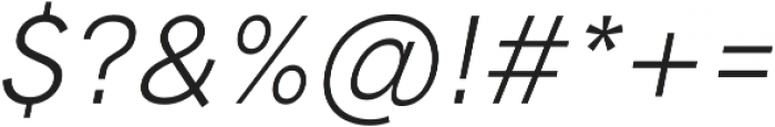 HK Grotesk Pro Italic otf (400) Font OTHER CHARS