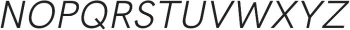 HK Grotesk Pro Italic otf (400) Font UPPERCASE