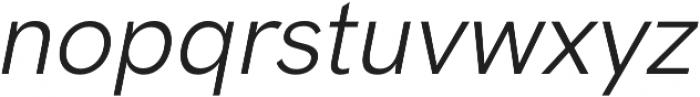 HK Grotesk Pro Italic otf (400) Font LOWERCASE