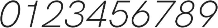 HK Grotesk Pro Light Italic Legacy otf (300) Font OTHER CHARS
