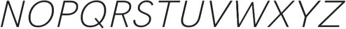 HK Grotesk Pro Light Italic otf (300) Font UPPERCASE