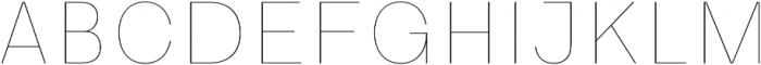HK Guise Thin otf (100) Font UPPERCASE