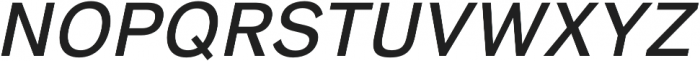 HK Super Medium Italic otf (500) Font UPPERCASE
