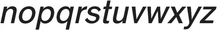 HK Super Medium Italic otf (500) Font LOWERCASE