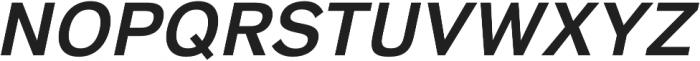 HK Super SemiBold Italic otf (600) Font UPPERCASE