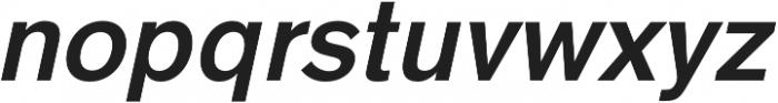 HK Super SemiBold Italic otf (600) Font LOWERCASE