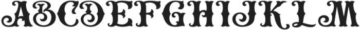 HKF_Brooks regular otf (400) Font UPPERCASE